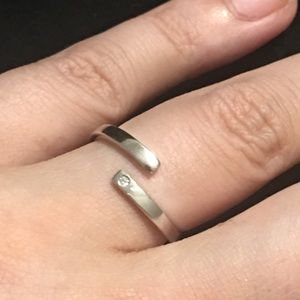 Bypass solitaire CZ ring